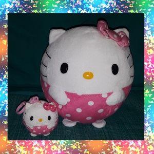 Set of Hello kitty TY plushies